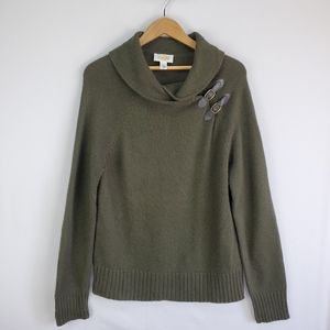 Talbots cashmere and wool blend sweater
